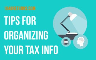 Tips for organizing your tax info