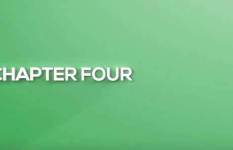 "White text on a green background reads, ""Chapter Four"""