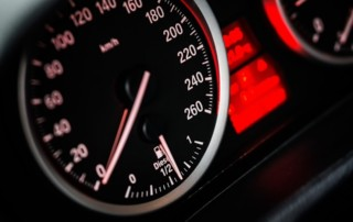 Odometer shown on vehicle dashboard