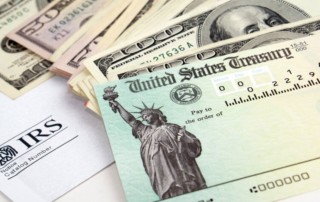 Federal reserve notes from tax refund laid out